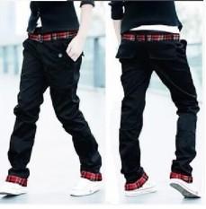 Toko Pria Korea Fashion Style Ganda Celana Pria Celana Lurus Ikat Pinggang Coklat Muda Warna Khaki Terlengkap