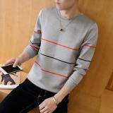 Jual Bushenbinni Sweater Pria Aneka Warna Ditambah Beludru Membentuk Tubuh Tiga Bar Abu Abu Oem Branded