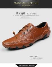 Pria Kulit Asli Sepatu Mode Nyaman English. Bisnis Mengemudi Sepatu-Intl