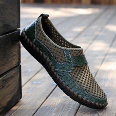 Harga Pria Fashion Sepatu Kets Sepatu Sebab Kaki Dingin Loafers Hijau Oem Online