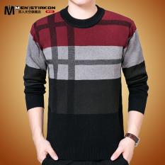 Beli Pria Musim Dingin Setengah Baya Yard Besar Ayah Sweater Musim Dingin Sweater Merah Di Tiongkok