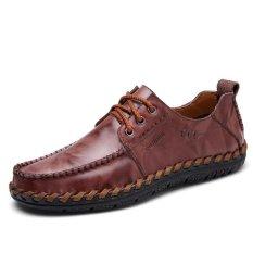 Harga Pria Sepatu Kulit Sepatu Casual Bekerja Sepatu Sepatu Mengemudi Kulit Pria Sepatu Kasual Sepatu Sepatu Kerja Sepatu Driving Int L Baru