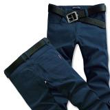 Beli Pria Slim Ukuran Plus Kode Pakaian Pria Panjang Celana Celana Pria Biru Navy Murah Tiongkok