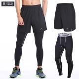 Harga Pria Tinggi Elastis Bernapas Cepat Kering Celana Legging Celana Ketat Olahraga Hitam Abu Abu Gelap Celana Pria Celana Panjang Pria