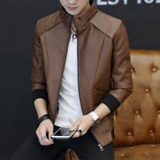 Spesifikasi Jaket Kulit Pria Pendek Santai Ukuran Besar Slim Fit Coklat Gelap Warna Coklat Gelap Warna Lengkap Dengan Harga