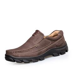 Sepatu Kasual Pria Kulit Asli Vintage Kantor Sepatu Kulit Mayor Sepatu Bernapas Doug Mengendarai Her Kayu Cendana Her Coklat Intl Oem Murah Di Tiongkok