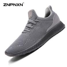 Pria's Sepatu Fashion Tren Olahraga dan Rekreasi Sepatu Nyaman Bernapas Men'S Shoes Outdoor Leisure Shoes Trend Sepatu (Abu-abu) -Intl