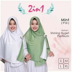Pricilla Jilbab Instan 2 In 1 - Mint
