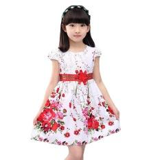 Putri Pihak Gaun untuk Gadis Pernikahan Gaun Floral Cetak Kids Prom Gaun Musim Panas Anak Sundress 2 3 4 6 8 9 10 12 Tahun-Intl