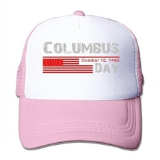 Print Adult Unisex Columbus Day 100% Nylon Mesh Caps One Size Fits Most Adjustable Caps - intl
