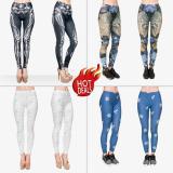 Tips Beli Printed Legging Pants Celana Zumba Senam Olahraga Yoga