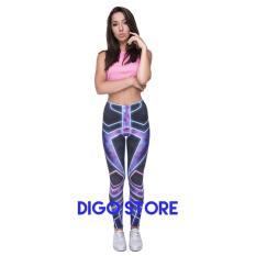 Spesifikasi Printed Legging Pants Celana Zumba Senam Yoga Cyber Yang Bagus