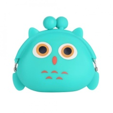 Dicetak dengan Kartun Hewan Anak Perempuan Mini Silicone Coin Purse Karet Lucu Dompet Kecil Handbag (Owl)-Intl