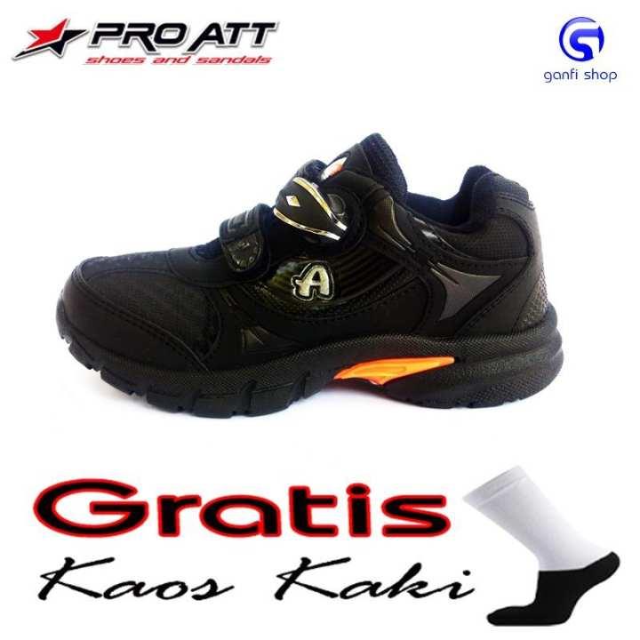 Pro ATT Kids Sepatu Anak Kunci Magnet Sepatu Sekolah Warna