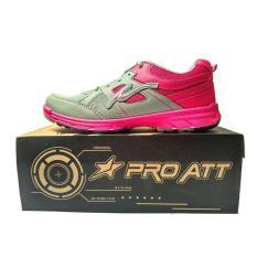 Harga Pro Att Lg 456 Sepatu Olahraga Sepatu Lari Warna Abu Fuschia Online Indonesia