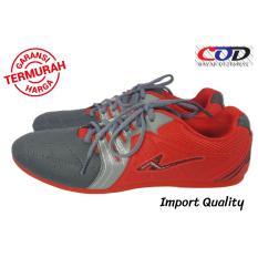 PRO ATT Sepatu FUTSAL Branded Pria dan Wanita - Merah Silver Abu  Awet dan Berqualitas