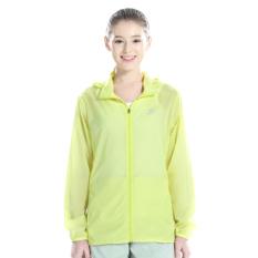 Menyelidiki Ekstensi Luar Rumah Perempuan Jaket Angin Musim Semi Atasan Ruangan AC Baju Pelindung Matahari (Neon Kuning Perempuan)
