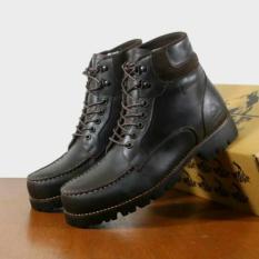 Produk Baru Bandung / Boots Safety Ujung Besi / Tracking Gunung / Santai Kerja Keren Boots Wolf