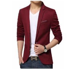 Jual Produsen Jas Blazer Pria Slimfit Strip White Red Lengkap