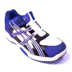 Professional Twister Badminton Shoes Sepatu Bulutangkis Blue Black Silver Murah