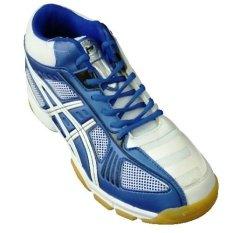 Professional Volley Pro Md Volleyballshoes Sepatu Bola Voli White Blue Asli