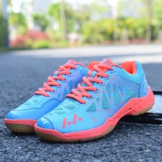 Beli Profesional Wanita Bernapas Sepatu Bulu Tangkis Fashion Pasangan Anti Skid Sneakers Plus Ukuran 36 45 Intl