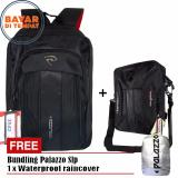 Review Toko Promo Bundling Palazzo Tas Ransel 35429 Tas Selempang Notebook 39268 Black Raincover