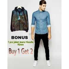 Toko Promo Buy 1 Get 2 Ajoe Celana Jeans Pria Hitam Jeans Hitam Pria Polos Strecth Model Skinny Ukuran 27 28 29 30 31 32 Termurah