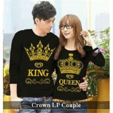 PROMO  Couple Baju - Kaos Pasangan  Online -  King Queen LP Hitam