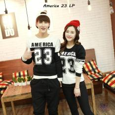 PROMO Couple Lengan Panjang - Kaos Pasangan  Online - America 23 LP