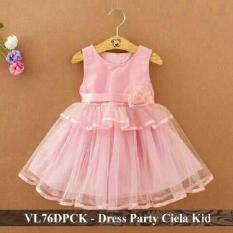 Promo - Dress Anak Termurah - Gaun Pesta Anak Perempuan - VL76DPCK - ciela fit 3-5 tahun