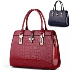 Spek Promo Gajian Tas Wanita Import Elegan B2702 Wine Glossy