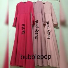 Toko Adzra Diskon Sale Promo Gamis Murah Gamis Wanita Busana Muslim Gamis Syar I Bubblepop Polos Premium Termurah Indonesia