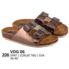 PROMO !!! Harga Grosir Sandal Flat / Kasual / Lifestyle Wanita - VDG 06 COKLAT Murah