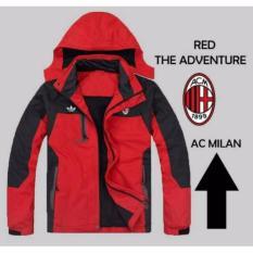 Promo Jaket Adventure Red Ac Milan Waterproof B7563B Di Indonesia