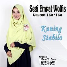 Harga Promo Jilbab Segiempat Wolfis Polos Ukuran 150 X 150 Termurah Asli Multi