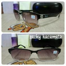 Promo Kacamata Minus Lensa Warna Hitam Gradasi Gagang Pake Per - 6Ead75