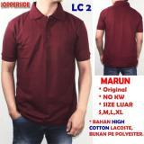 Pusat Jual Beli Promo Kaos Polo Polos Shirt Marun Original Cotton Bukan Pe Polyester Lc2 Indonesia