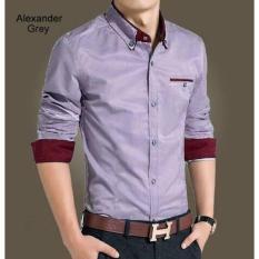 Promo Kemeja Slim Fit Alexander Grey Termurah