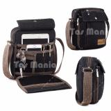 Daftar Harga Promo Murah Tas Slempang Import Uncle Star Kanvas Militer Slempang Messenger Shoulder Bag Dark Grey Braun Fox
