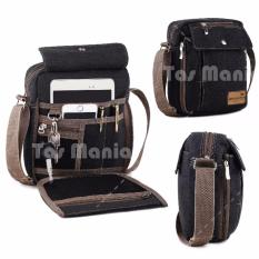 PROMO !!! Murah Tas Slempang Import Uncle Star Kanvas Militer Slempang Messenger Shoulder Bag - Dark Grey