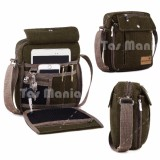 Promo Murah Tas Slempang Import Uncle Star Kanvas Militer Slempang Messenger Shoulder Bag Olive Braun Fox Diskon 50