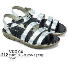 Promo Sandal Flat / Kasual / Lifestyle Wanita - VDG 04 SILVER Murah Best Seller