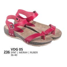 Promo Sandal Flat / Kasual / Lifestyle Wanita - VDG 05 MERAH Murah Best Seller