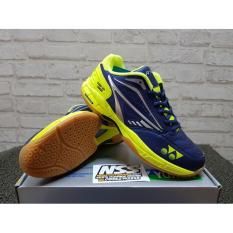 PROMO !! Sepatu Badminton Yonex Court Tough - NAVY LIME