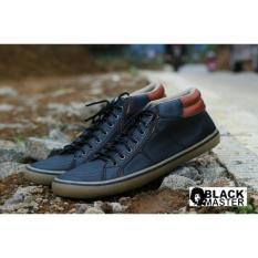 Promo!!! Sepatu Black Master Geox Gaya Casual Pria Original - Ycvsvk