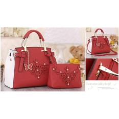Jual Promo Sq2527 Tas Impor Paket 2In1 Tas Wanita Murmer Handbag Fashion Bag Murah Tas Selempang Multi