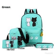promo tas ransel sekolah / tas ransel wanita / tas punggung wanita / tas backpack wanita / motif kucing//KP