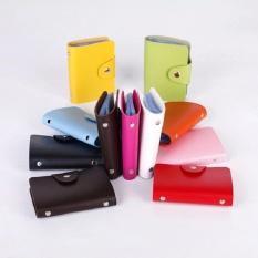 Dompet Kartu Mini IMPORT isi 24 slot Leather SC 012 GREEN)