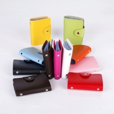 PROMO!!!Dompet Kartu Mini IMPORT isi 24 slot Leather SC 012 (green)